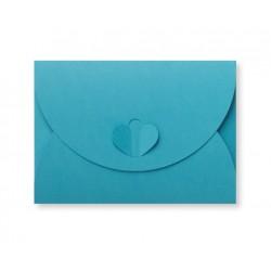 enveloppen met hartsluiting Oceaanblauw