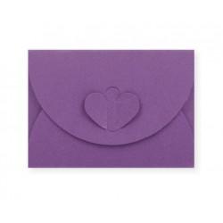 enveloppen met hartsluiting paars