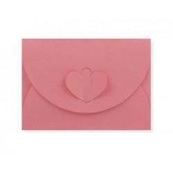 enveloppen met hartsluiting zalmroze