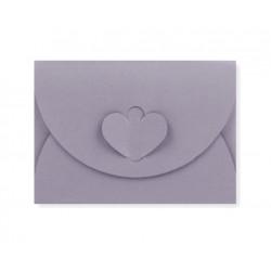 enveloppen met hartsluiting grijs
