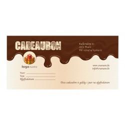 Cadeaubon chocolade met enveloppe