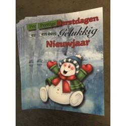 Kerstkaartje Sneeuwman